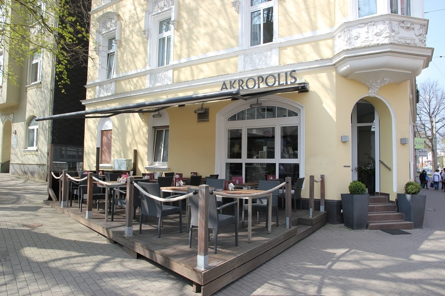 akropolis greek restaurant in dortmund feels like greece. Black Bedroom Furniture Sets. Home Design Ideas